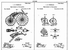 Patent for improved Michaux-Perreaux steam velocipede (1872)