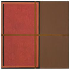 'Recidivist' (1992) by American abstract painter Harvey Quaytman (1937-2002). Acrylic and rust on canvas, 40 x 40 in. via McKee Gallery