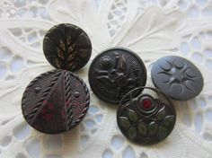 Vintage Buttons  Collector pierced and molded by pillowtalkswf, $10.95