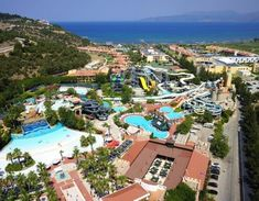 Stunning hotel in Kusadasi, Fantasy Aquapark Hotel 🌅🏖️ Fantasy Hotel, Beach List, Hotels In Turkey, Turkey Holidays, Aqua, All Flights, Kusadasi, Beachfront Property, Ulsan