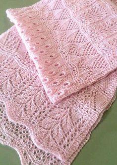 красивый ажурный шарф спицами схема описание
