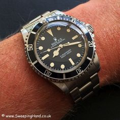 Stunning Unpolished 1983 Rolex 5513 Maxi Dial Submariner for sale from trusted vintage Rolex buyer and seller SweepingHand