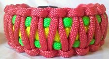 Paracord Bracelet Rasta Wide Cuff Green Yellow Red King Cobra