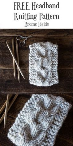 FREE Headband Knitting Pattern : Wilderness : Brome Fields