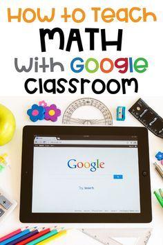 Google Classroom, Math Classroom, Classroom Websites, Online Classroom, Flipped Classroom, Teaching Technology, Teaching Math, Maths, Math Math
