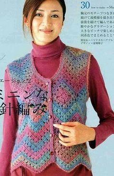 Crochet zigzag stitch on picasa web albums. Crochet Bolero Pattern, Crochet Jacket, Crochet Cardigan, Crochet Patterns, Easy Crochet, Knit Crochet, Crochet Tops, Crochet Woman, Crochet Clothes
