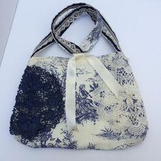 Vintage lace reversible bag handmade vintage lace handbag | Etsy