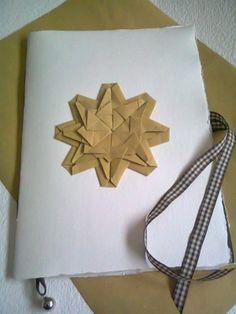 Quaderno rilegato a mano con mandala