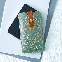 printed lace leather phone case by tovicorrie | notonthehighstreet.com