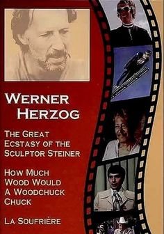 "The Great Ecstasy of the Sculptor Steiner (Die Große Ekstase des Bildschnitzers Steiner) -- ""Werner Herzog trains his lenses on Walter Steiner, a man with talents for carving both wood and snow. A champion ski jumper, Steiner shattered the sport's many milestones, pushing himself to the limits with each attempt. Herzog captures Steiner as he sluices through the ice in a delicate and dangerous dance. Yet off the slopes, the athlete ... invest[s] his time in a ... contemplative, meditative…"