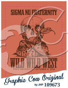 Wild West skull rattle snake #grafcow