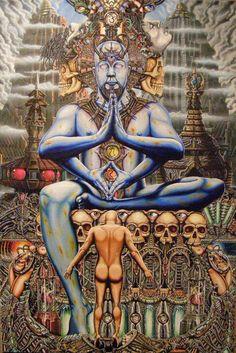 Judgement by R-L-Frisby Om Namah Shivay, Om Shanti Om, Psy Art, Hindu Art, You Are Perfect, Mixed Media Canvas, Psychedelic Art, Steampunk Fashion, Metal Working
