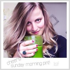 the sunday moring pint!  www.langsamfood.com New Bands, Green Smoothies, The Rock, Sunday, Long Hair Styles, Live, Instagram Posts, Beauty, Domingo
