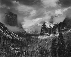 Clearing Winter Storm, Yosemite National Park, 1940  by Ansel Adams. http://www.telegraph.co.uk/culture/art/art-news/7845822/Ansel-Adams-photograph-sells-for-record-722000.html   #Photography #Yosemite #Ansel_Adams
