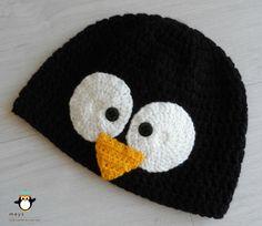 Crochet Penguin Beanie by Meys Made