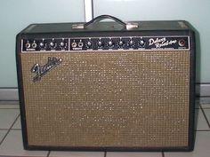 Oct '65 Fender Deluxe Reverb Blackface Electric Guitar Amplifier true vintage