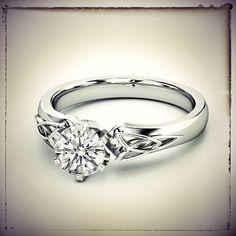 Triquetra Celtic Diamond Engagement Ring