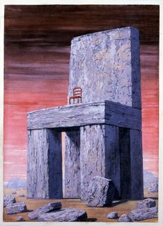 """""""Those who cannot remember the past are condemned to repeat it.""""--George Santayana, The Life of Reason, 1905. From the series Great Ideas of Western Man. by René Magritte / American Art"""