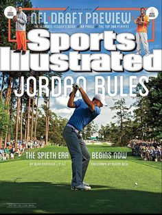 Masters winner Jordan Spieth reacts to being on the cover of Sports Illustrated. Sports Magazine Covers, Si Cover, Golf Books, Sports Illustrated Covers, Golf Magazine, Jordan Spieth, Award Winning Photography, Gym