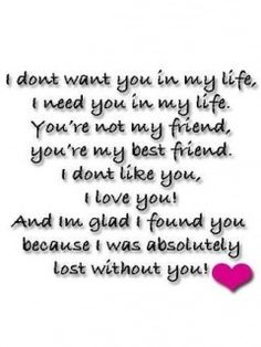 I Love You Bestfriend Quotes Stunning To My Very Best Friend In The Whole Wide World Janelle Cunningham