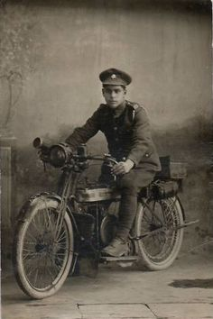 Army Service Corps Douglas Motorcycle WW1