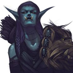 Kiharu by KimberlySwan on deviantART - close to what my trolls would look like. Beautiful artwork.