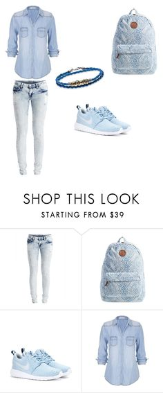 """blue jean"" by swag345 ❤ liked on Polyvore featuring VILA, Billabong, NIKE, maurices and Platadepalo"