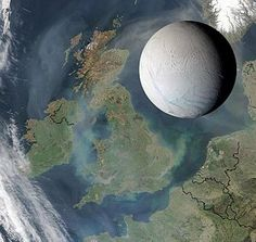 Enceladus - Wikipedia, the free encyclopedia - size compared to the British Isles