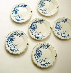 Petite Blue & White Wall Plates  Collection  Set by FoxberryHill, $28.50