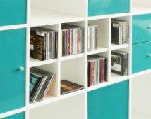 CD usage for IKEA Kallax shelf / white