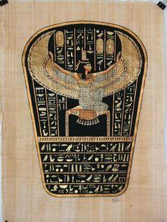 Ancient Egyptian Goddess Isis | photo Egyptian-Goddess-Isis-Papyrus-Art-S.jpg