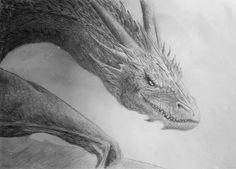 The Hobbit, The Desolation of Smaug, Smaug drawing by Chiron Pasdeloup