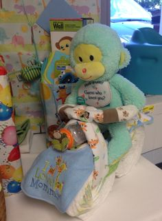 Monkey themed motorcycle diaper