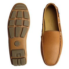 Tan Leather Italian Mens Driving Shoes by Arthur Knight