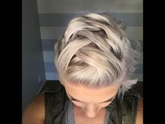 Faux mohawk braid on short hair - YouTube