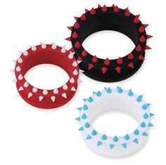 "Flexible Silicone Flesh Tunnel Plug With Spikes Assorted Colors And Sizes SOLD by PAIRS (COLOR: BLACK/RED - SIZE: -1"" (24 MM)) Stylejewelry http://www.amazon.com/dp/B00G6STTZW/ref=cm_sw_r_pi_dp_cbzTtb0WHQ1JYESC"