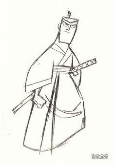Art of Samurai Jack Samurai Jack, Samurai Warrior, Tattoo Sketches, Drawing Sketches, Drawings, Animation Programs, 90s Cartoons, Graffiti Cartoons, What To Draw