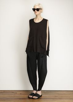 MM6 Maison Martin Margiela - Boxy Sleeveless Top (Black)