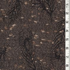Black/Brown Wool Coating - Fabric By The Yard