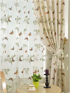 Korean rural linen half blind fabric The sitting room the bedroom cotton and linen custom curtain window screen
