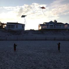 Kites on the beach.