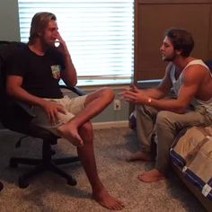 """Watch The Miuccio Brothers's Vine """"When you catch your only two friends talking…"""