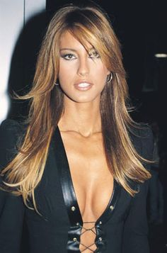 pictures+of+brown+hair+with+blond+and+copper+highlights | Long dark brown hair with blonde pictures 4