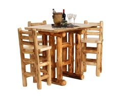 """Surprise your Man and decorate his Man Cave with some log cabin furniture! Visit LogFurnitureCo.com Today to see what other Mountain Woods Furniture Products can Jazz up  the """"Man Cave"""""""