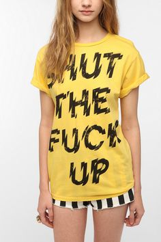 Blood Is The New Black Shut The F*ck Up Tee  #UrbanOutfitters