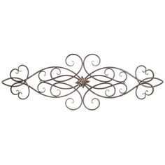 Scroll Metal Wall Decor with Medallion Entryway Dining Living Room x