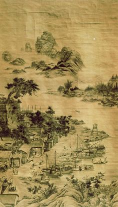 Ancient China farmland. Only a little bit of China was able to be farmland-ed. The rest was all bad.