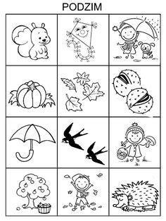 Fall Preschool Activities, Indoor Activities For Kids, Preschool Worksheets, Preschool Crafts, Art And Craft Videos, Easy Fall Crafts, Coloring Pages For Kids, Children, Autumn Activities For Kids