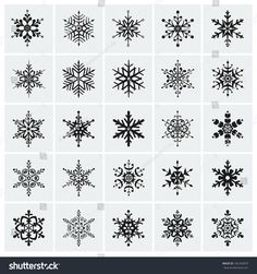 Find Set Black Snowflakes Icon Vector Illustration stock images in HD and millions of other royalty-free stock photos, illustrations and vectors in the Shutterstock collection. Snow Tattoo, Snow Flake Tattoo, Mini Tattoos, Body Art Tattoos, Small Tattoos, Snowflake Photography, Hand Embroidery Design Patterns, Diamond Tattoos, Calligraphy Logo