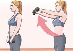 Mujer trabajando los músculos deltoides y espalda superior